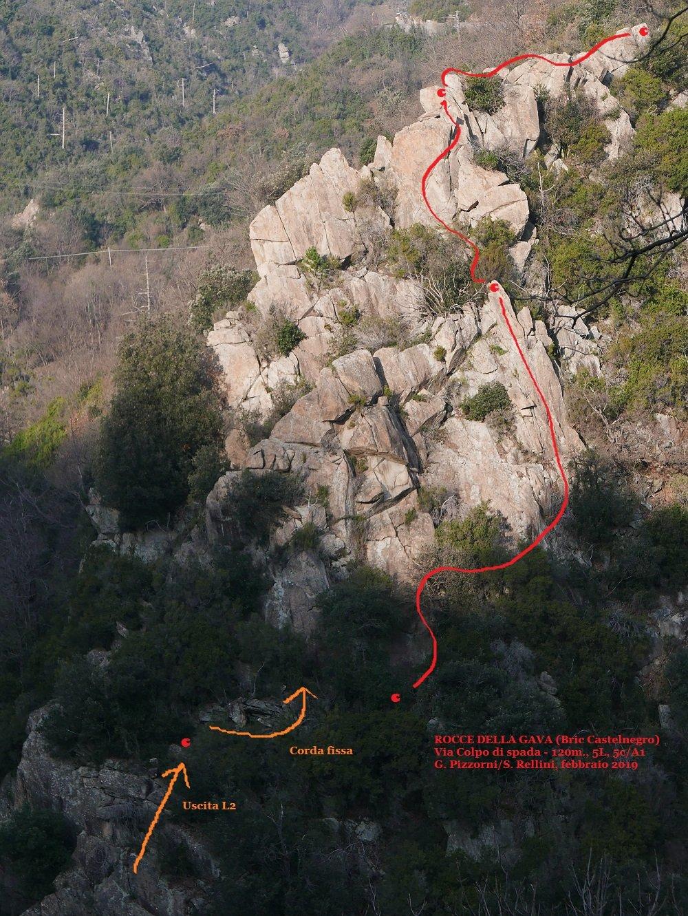 Tracciato della parte più alta della via (L3-L5)