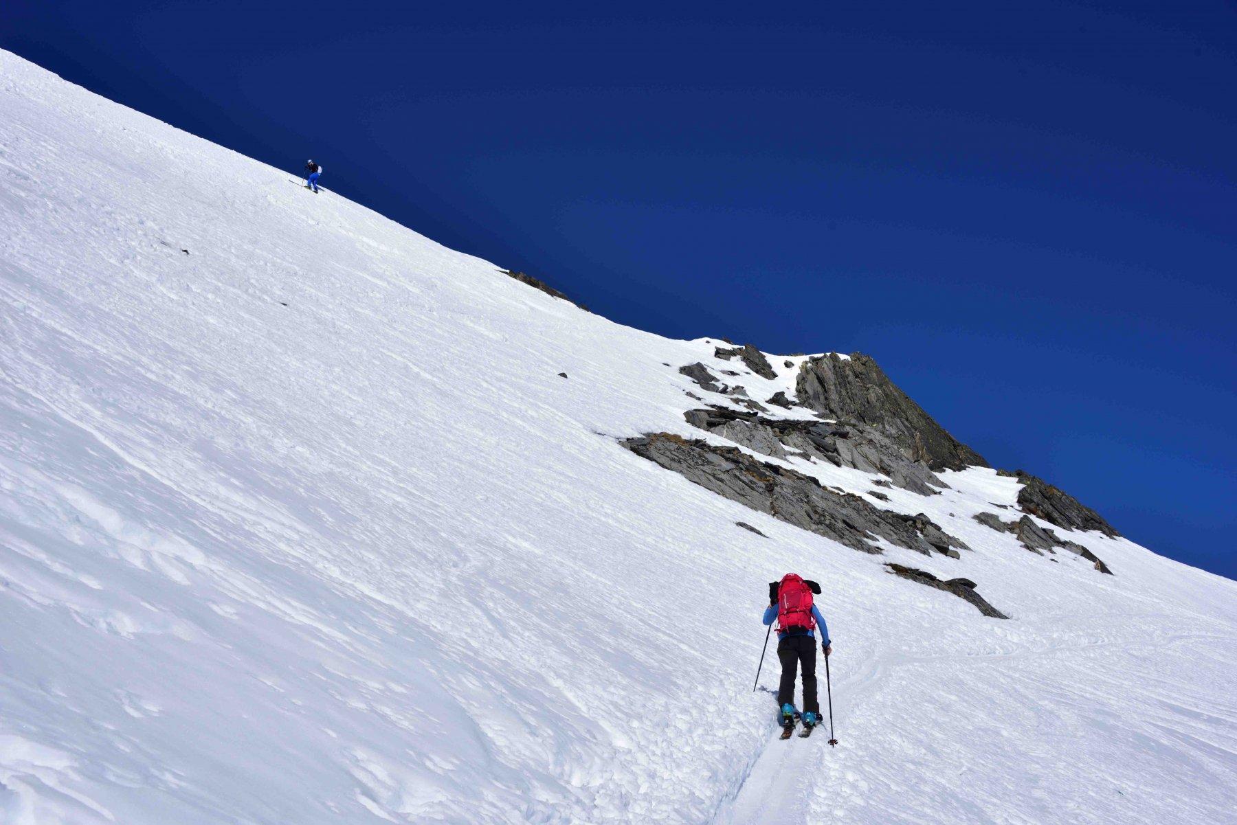 Verso la cresta sommitale del M.Telliers.