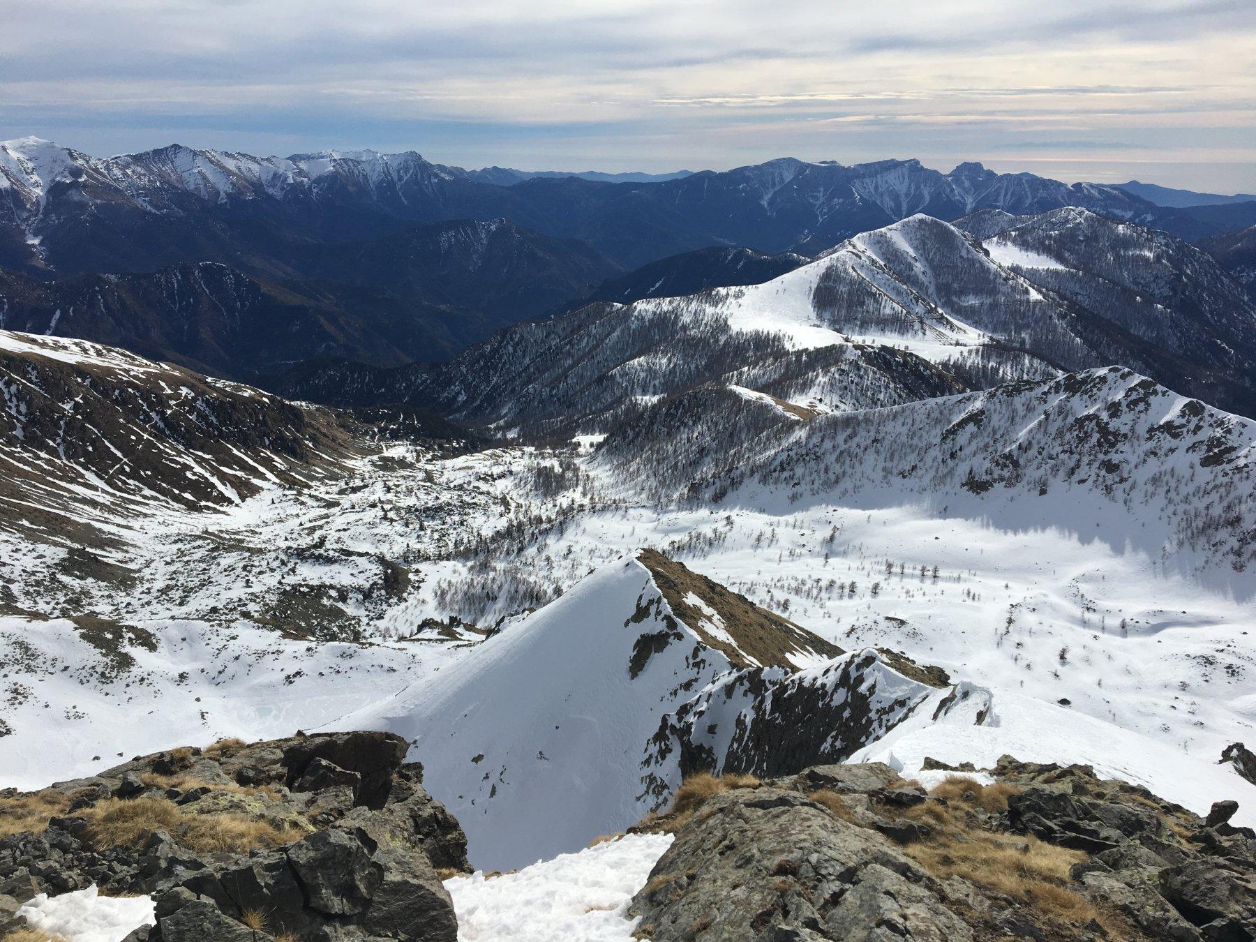 Il vallone visto dalla cima