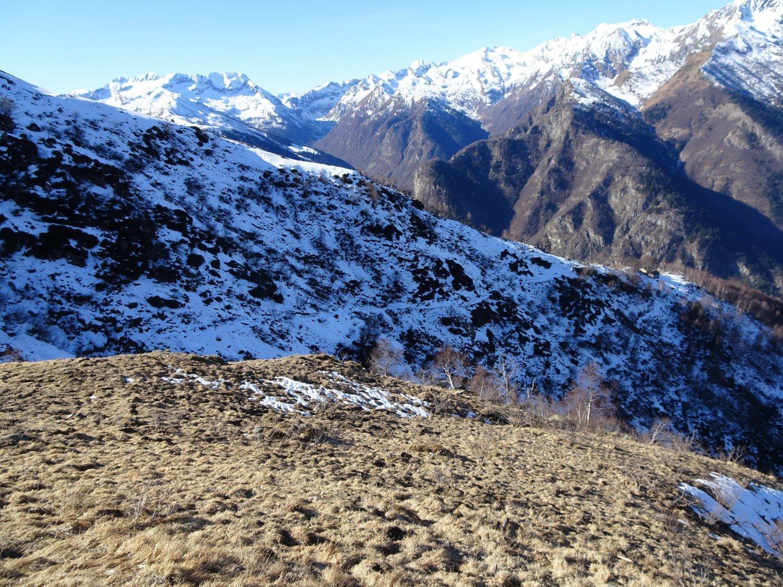 Neve oltre l'Alpe Ambrogione