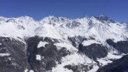 Vue depuis sommet Creta De Vella/ Massif des Combins