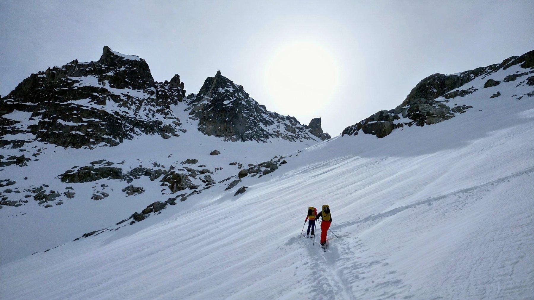 Salita appena sopra ghiacciaio