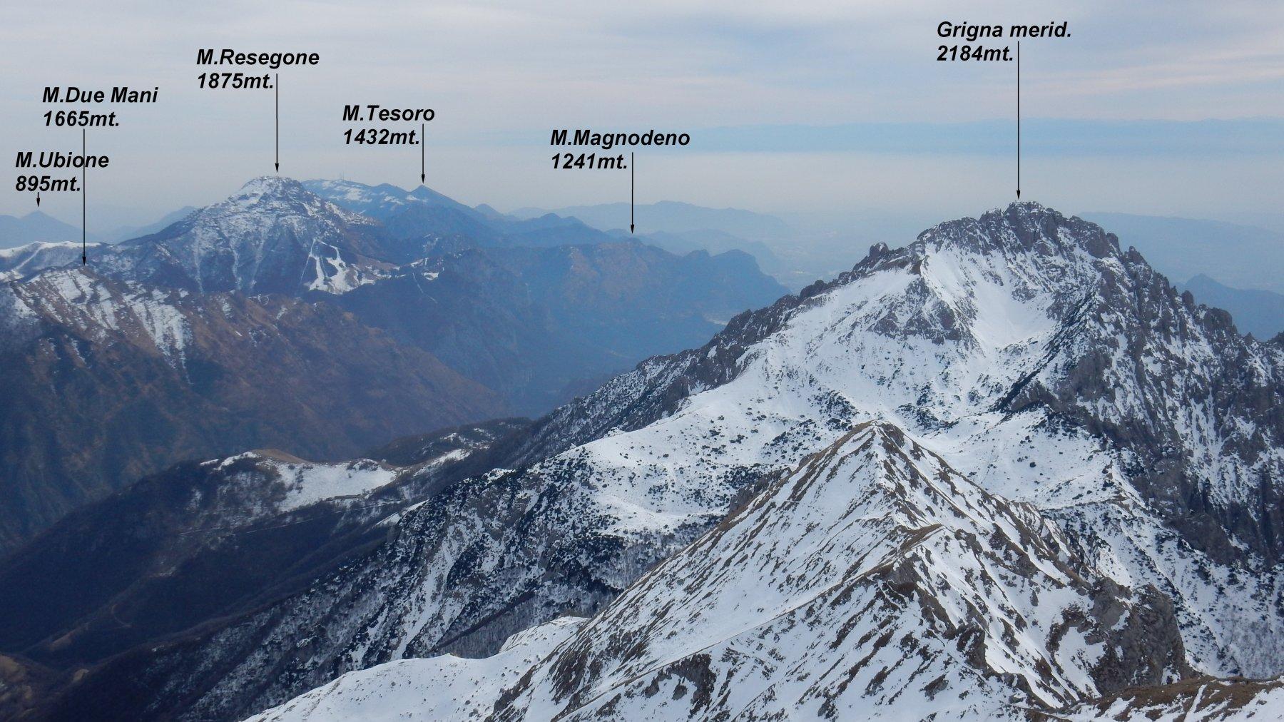 Panorama in vetta del Grignone.