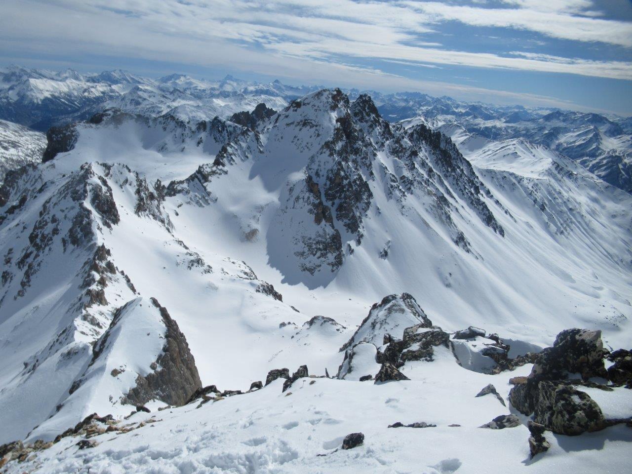 la tete de la Cassille un po' magra di neve