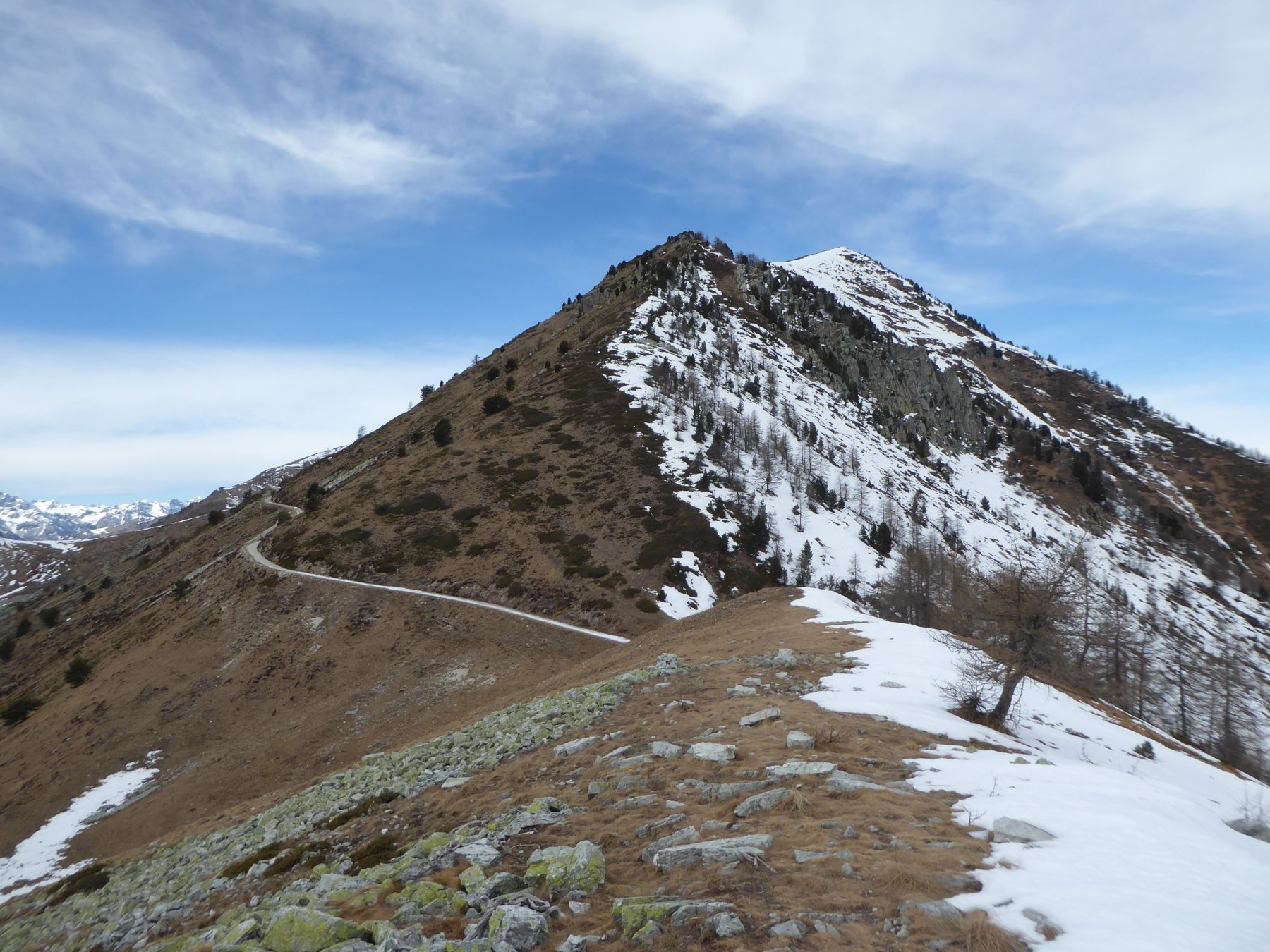 Rastcias (Monte) da Chesta per i Colli Birrone e Rusciera 2019-03-02