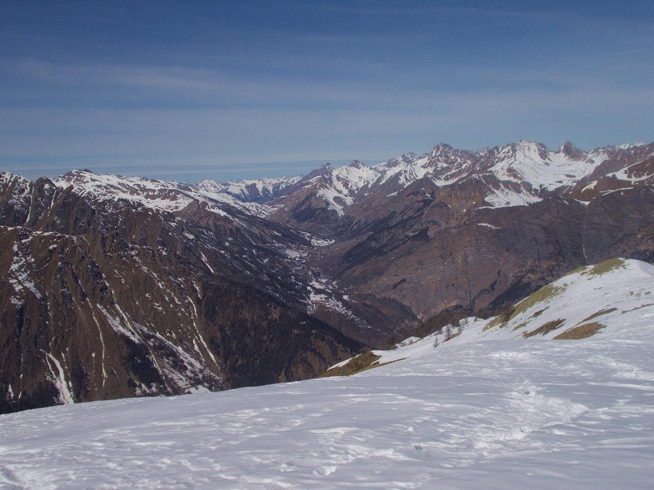 dalla cima vista su alta Valle Stura