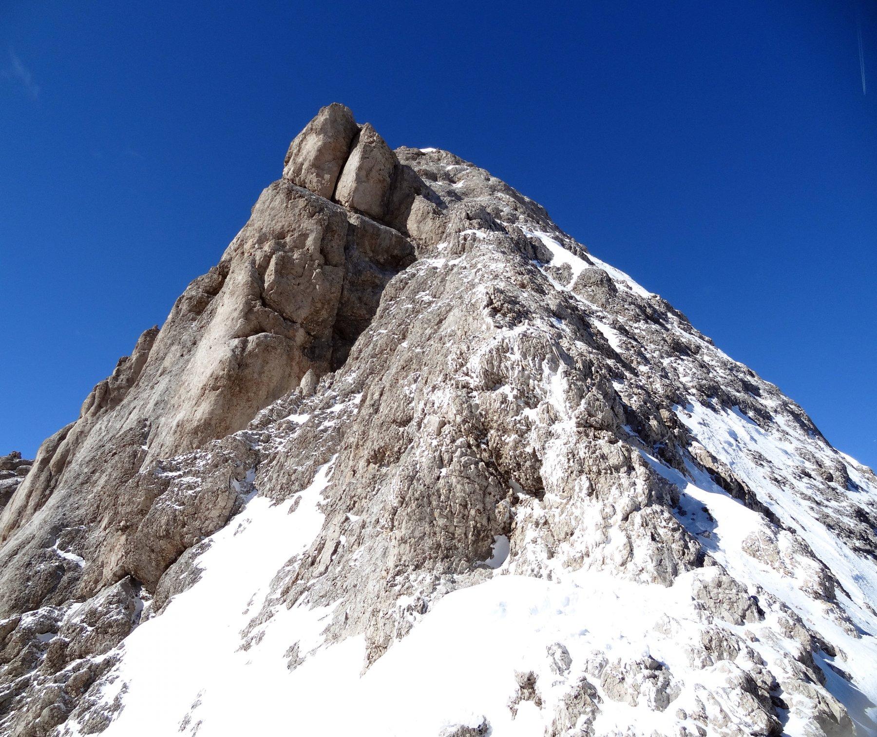 Marmolada, Punta Penia dal Lago Fedaia per la Forcella 3294 m e la Cresta Est 2019-03-05