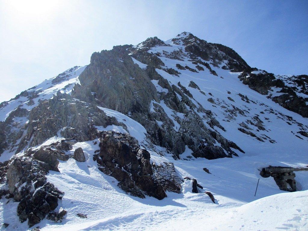 La cresta alla cima di Leccia al pomeriggio