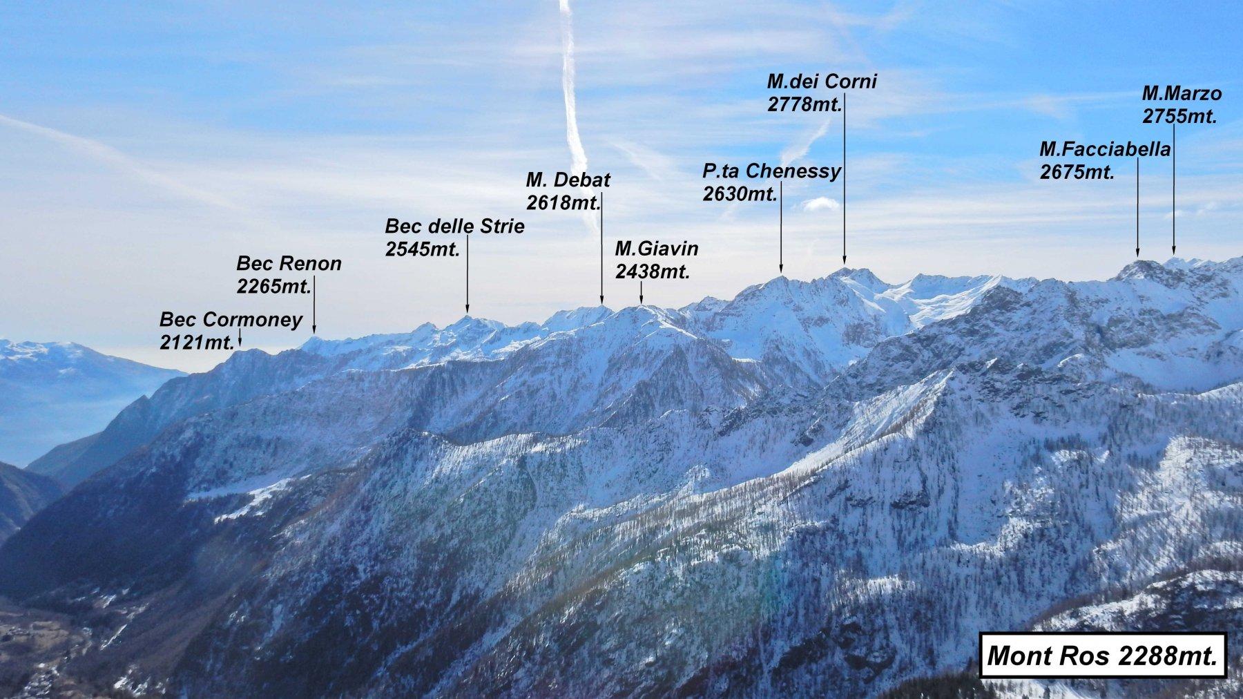 Panorama dal Mont Ros.