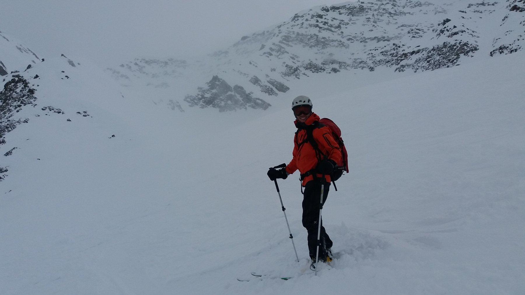 Neve un po' pesante soltanto negli ultimi 100 metri