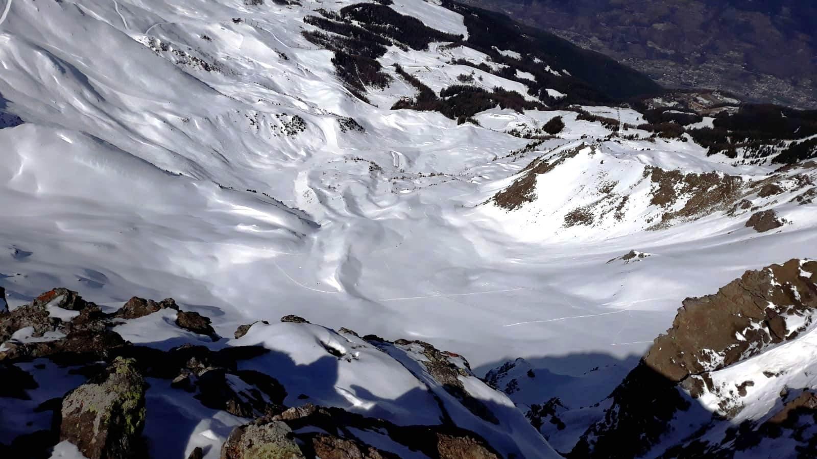 itinerario visto dall'alto