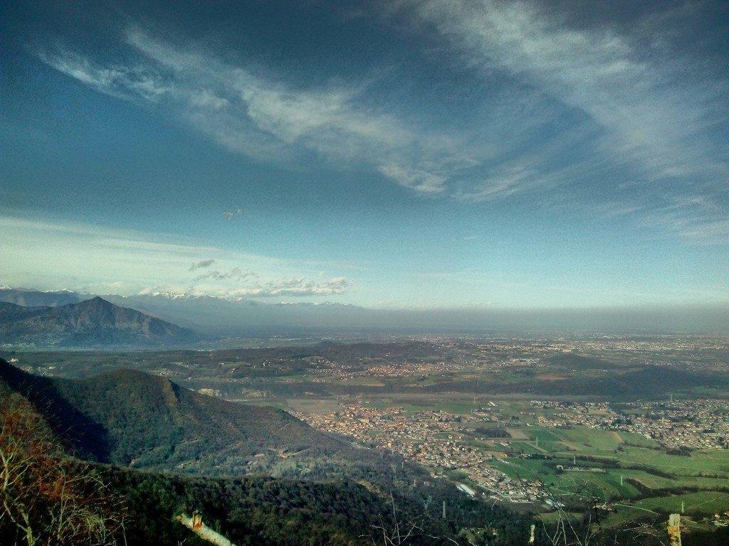 Panorama dalla Montagnazza sul Musinè e la bassa val Susa