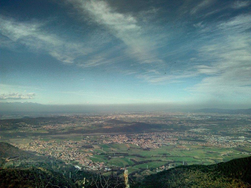 Panorama dalla Montagnazza sulla pianura torinese