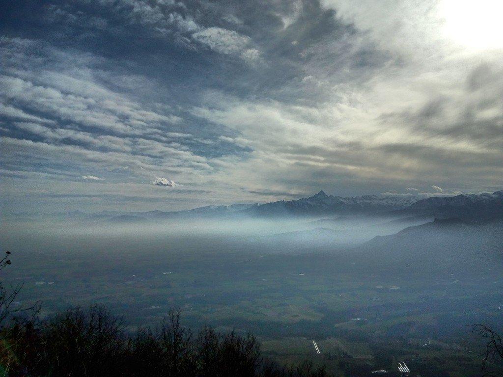 Monviso e zona di Cumiana-Pinerolo dalla Montagnazza