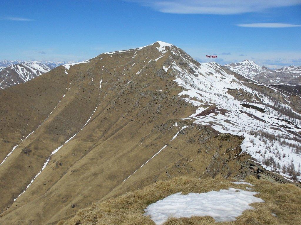 Dalla cima Missun il Bertrand e cima Velega