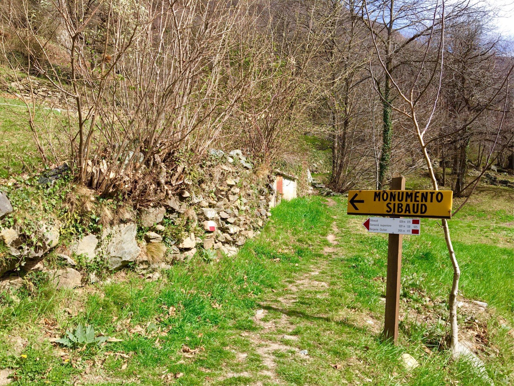 Partenza sentiero