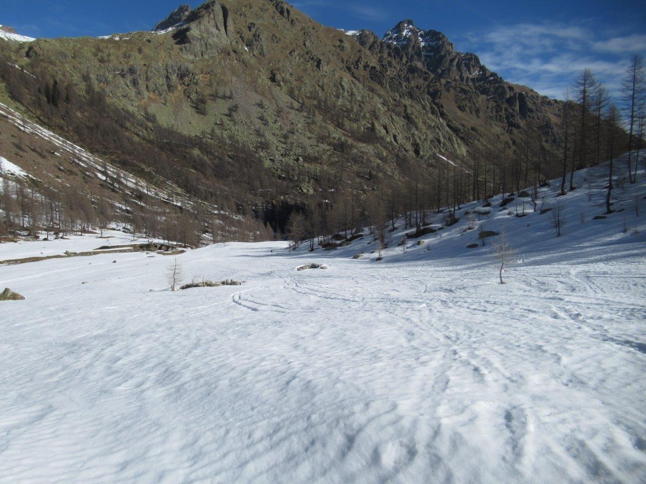 in arrivo al piano Valsco superiore