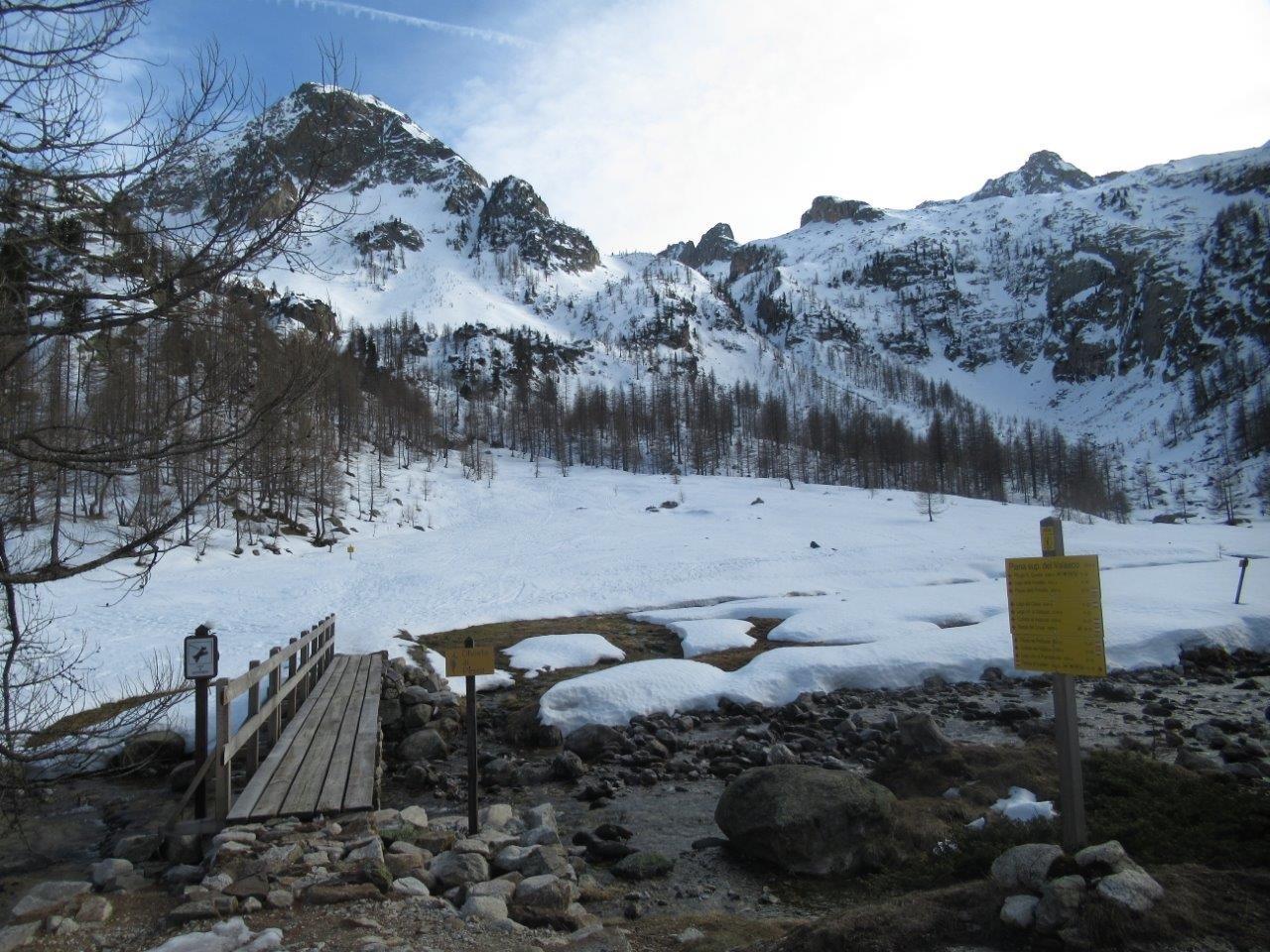Il ponte al Piano del Valasco superiore