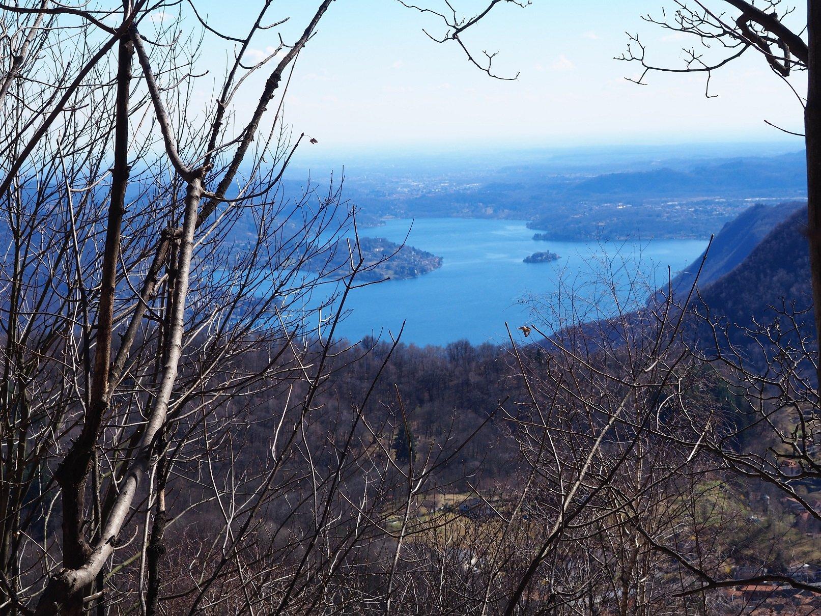 Scorcio del Lago d'Orta dalla parte bassa della gita.