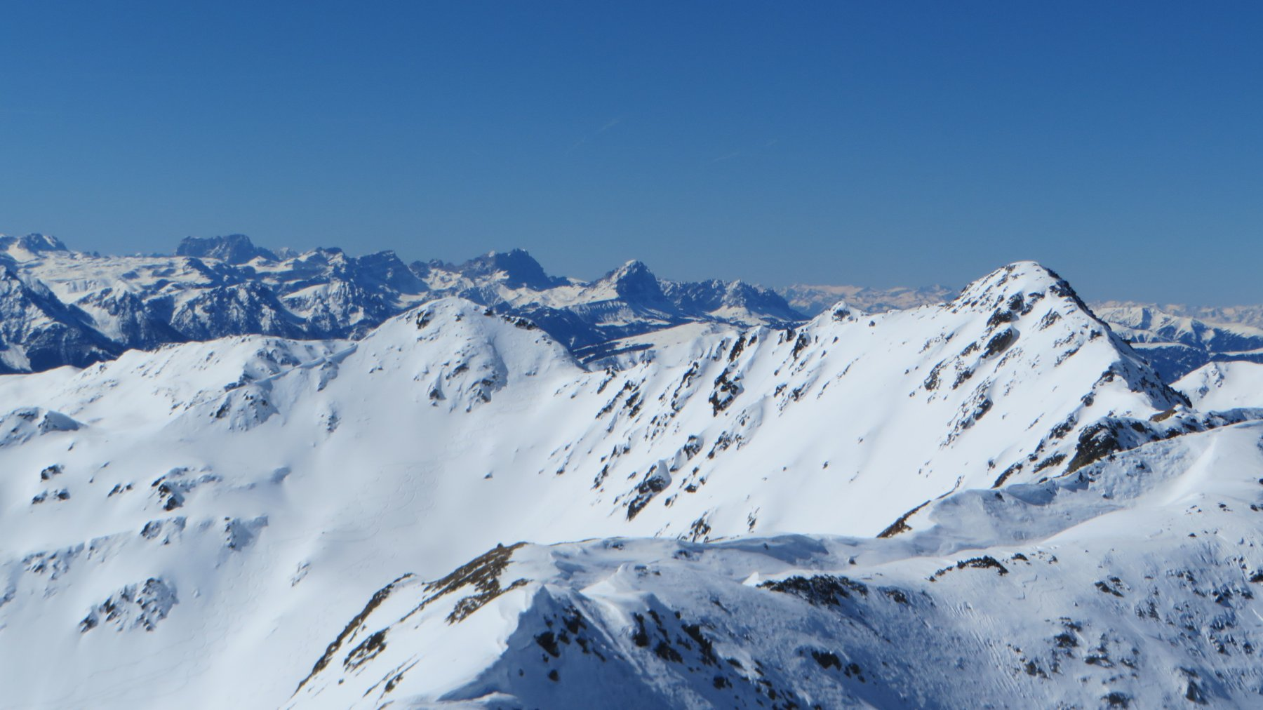 Kaserspitze e Regeispitze anticima 2768 m da Santa Magdalena 2019-03-21