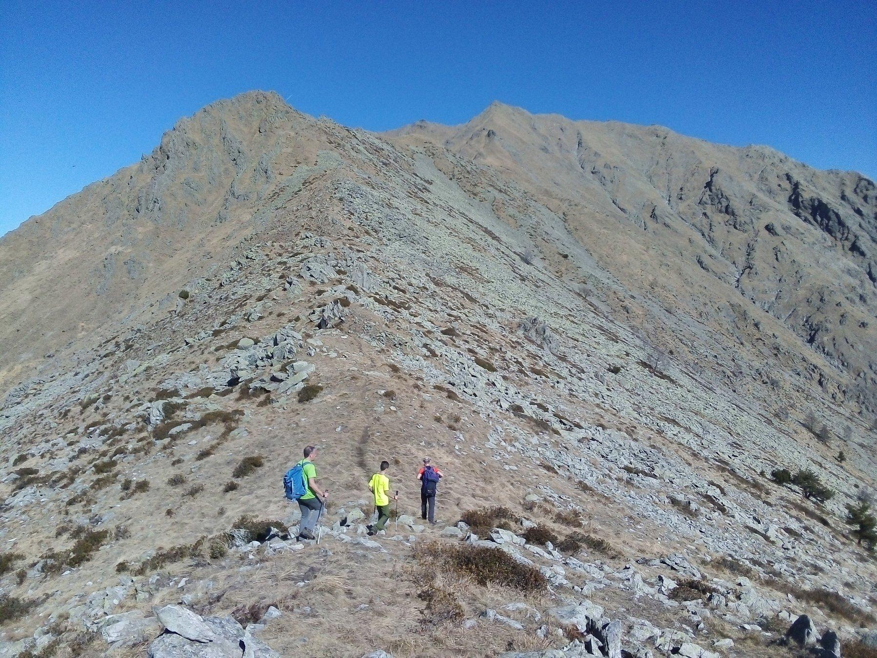 Verso la cima dopo la Costafiorita.