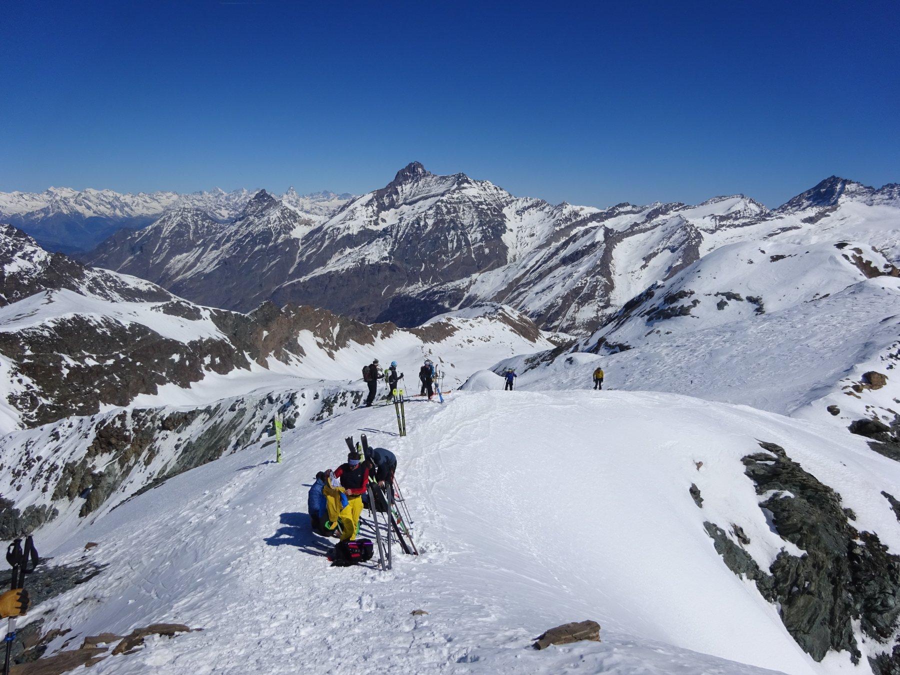 Spalla dell'anticima sci-alpinistica