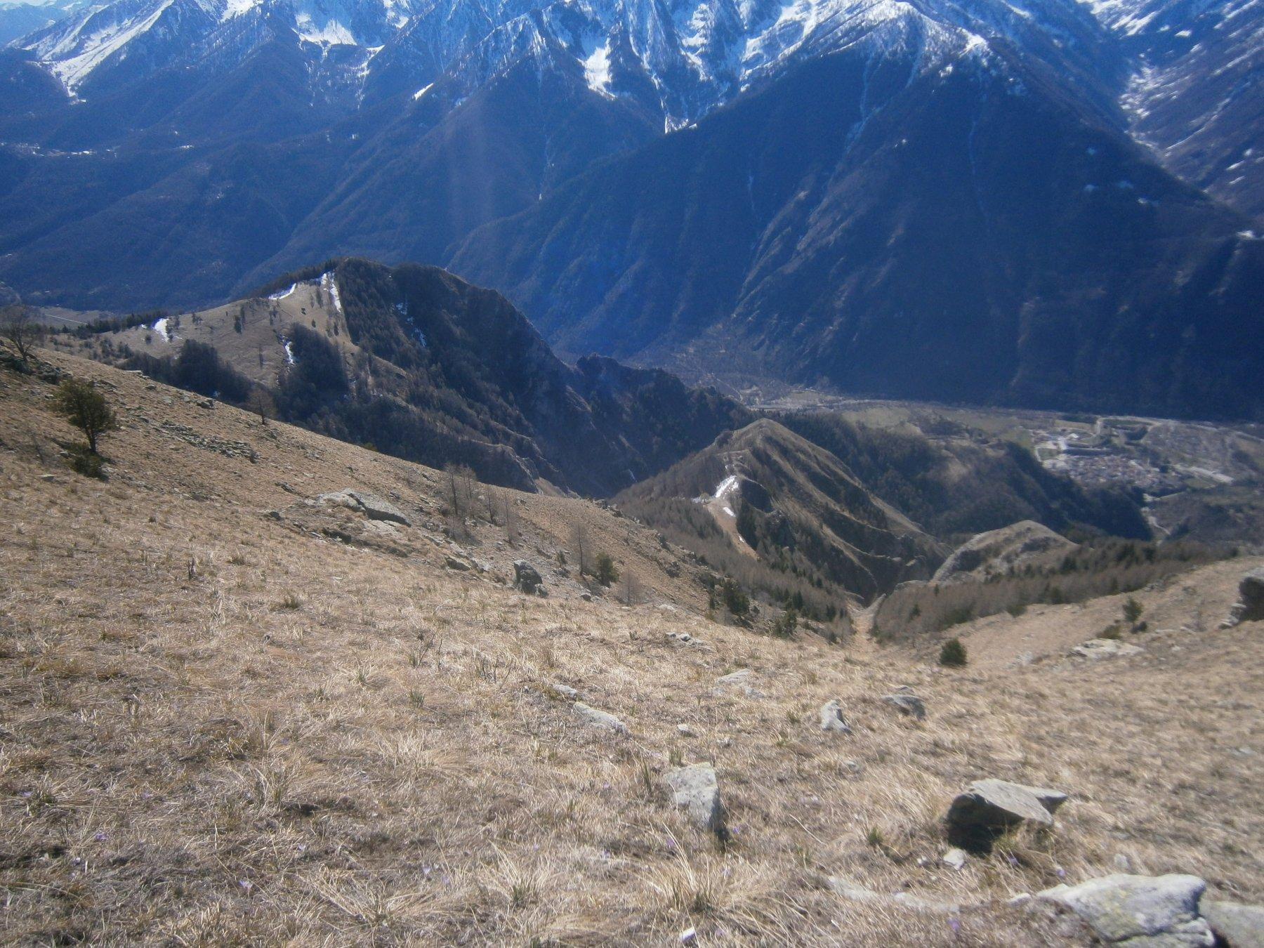 Vista su Aighiera, Punta del Fò e Vinadio