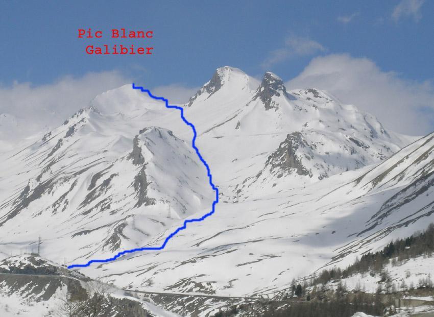 Pic Blanc du Galibier visto da Le Lauzet