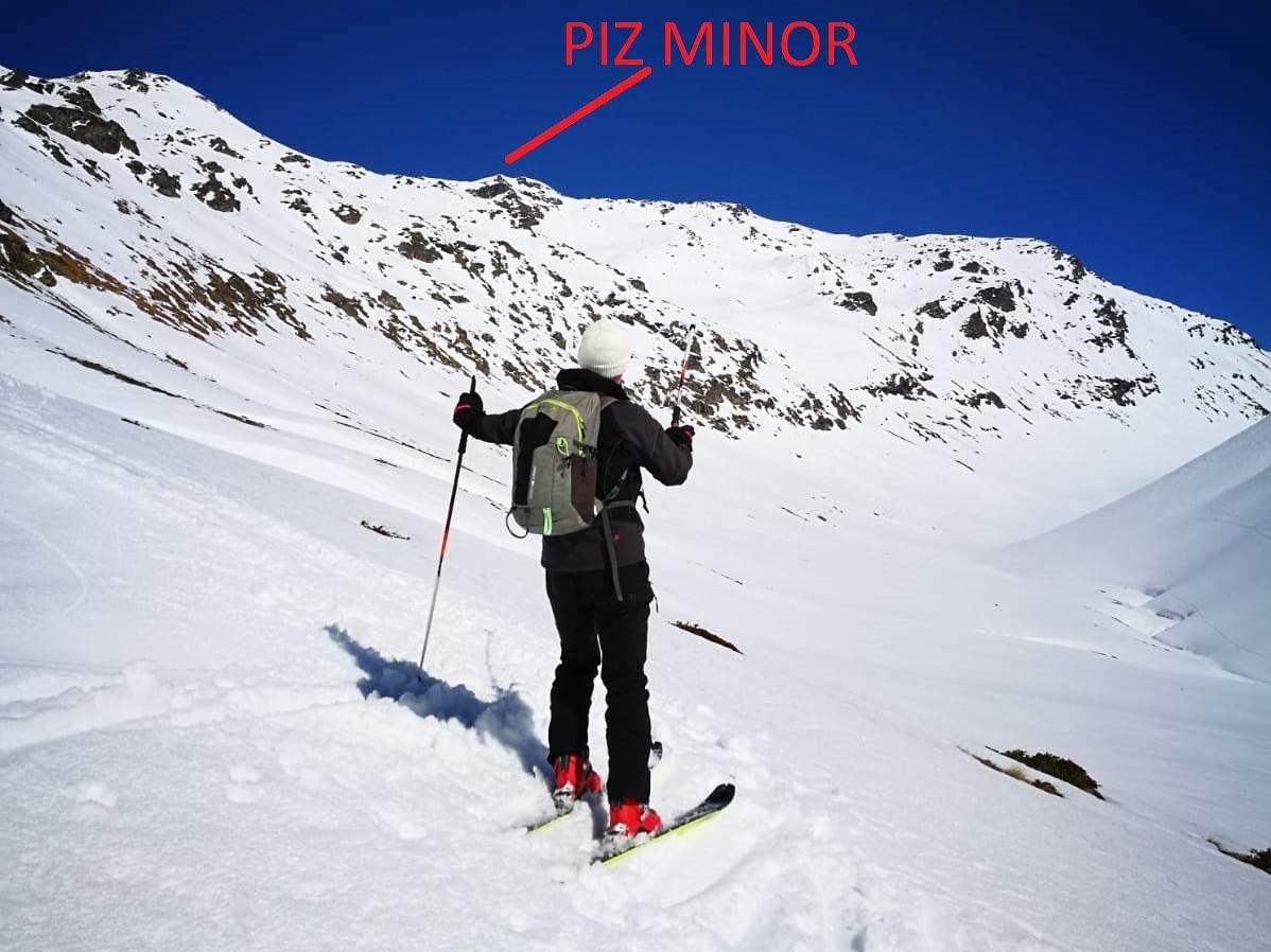 Il Piz Minor visto dalla Val Minor
