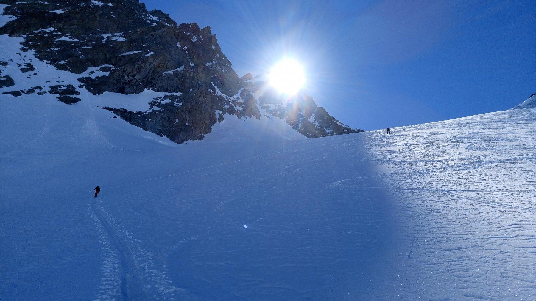Sul ghiacciaio dell'Evêque
