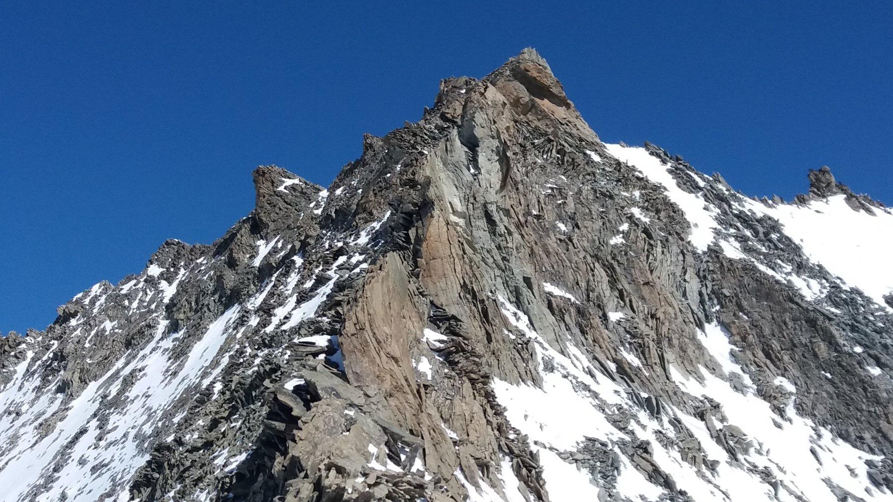 La cresta della Gran Becca di Blanchen