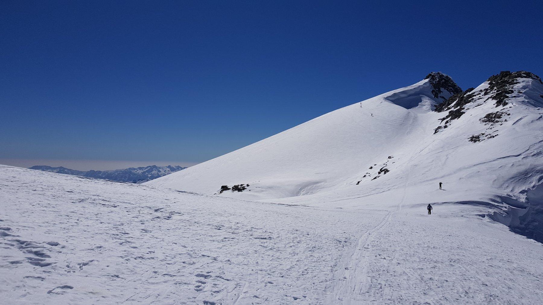 Il Breithorn visto dall'omonimo passo (3360 mt)