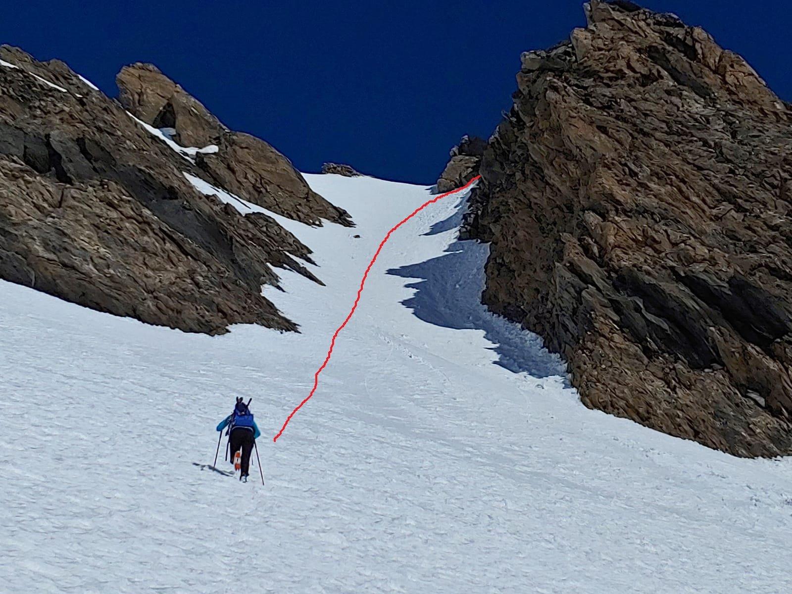 tracciato per la cima
