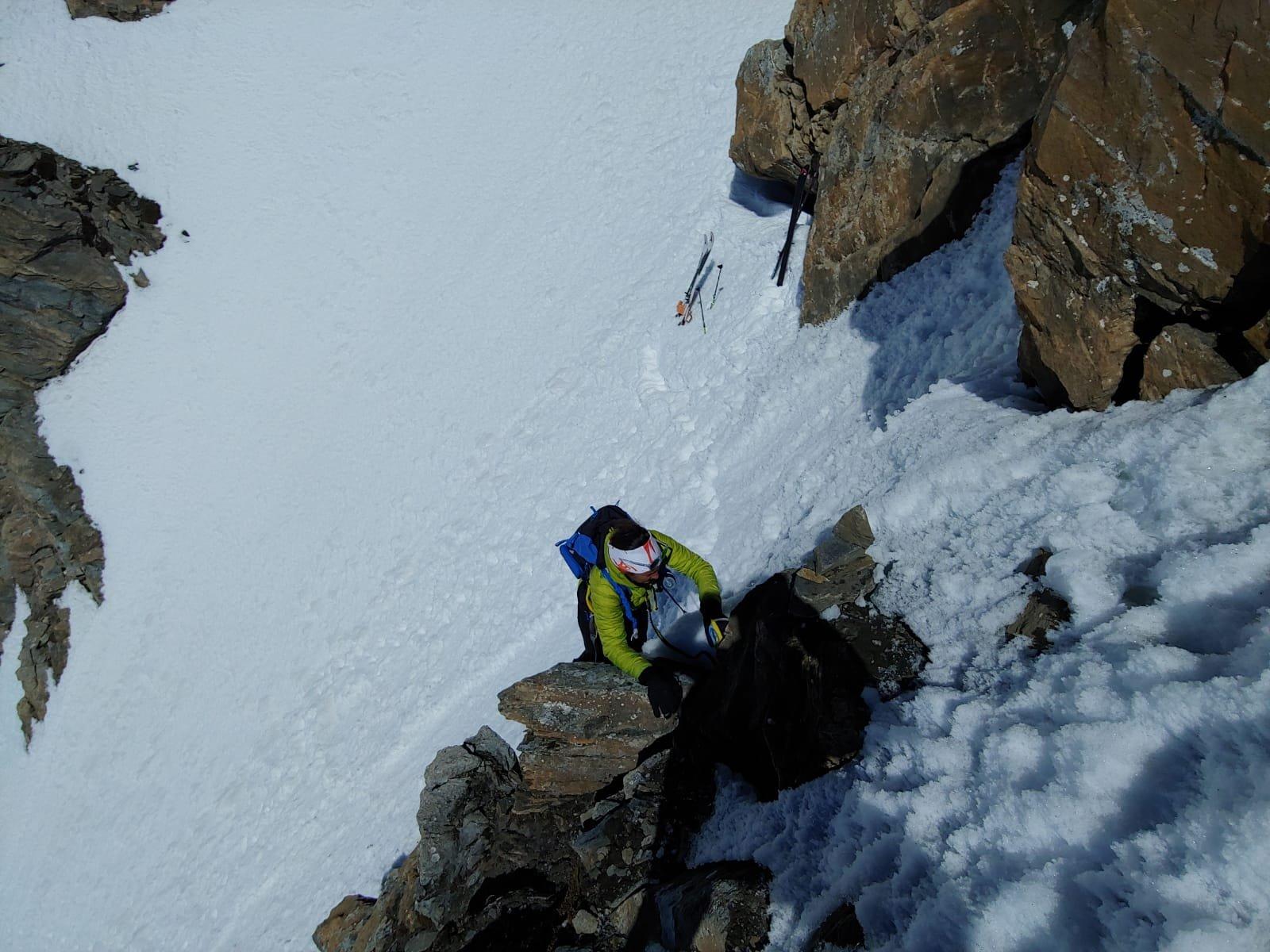 Dal deposito sci si arrampica