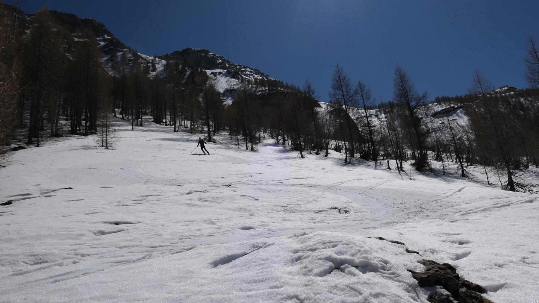 neve primaverile nel Vallon de Courrouit