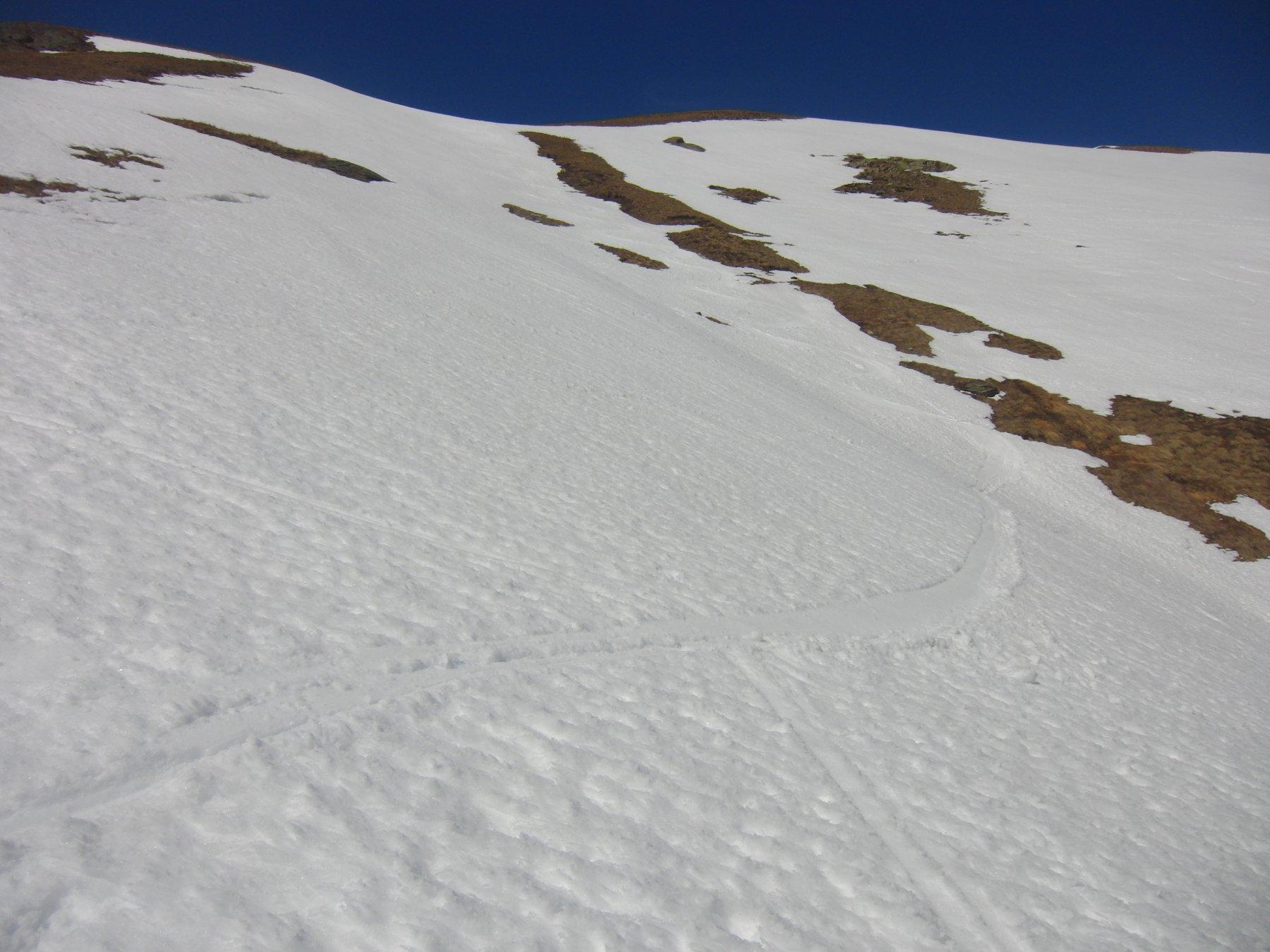 Neve bellissima entrando nel vallone Mandettaz