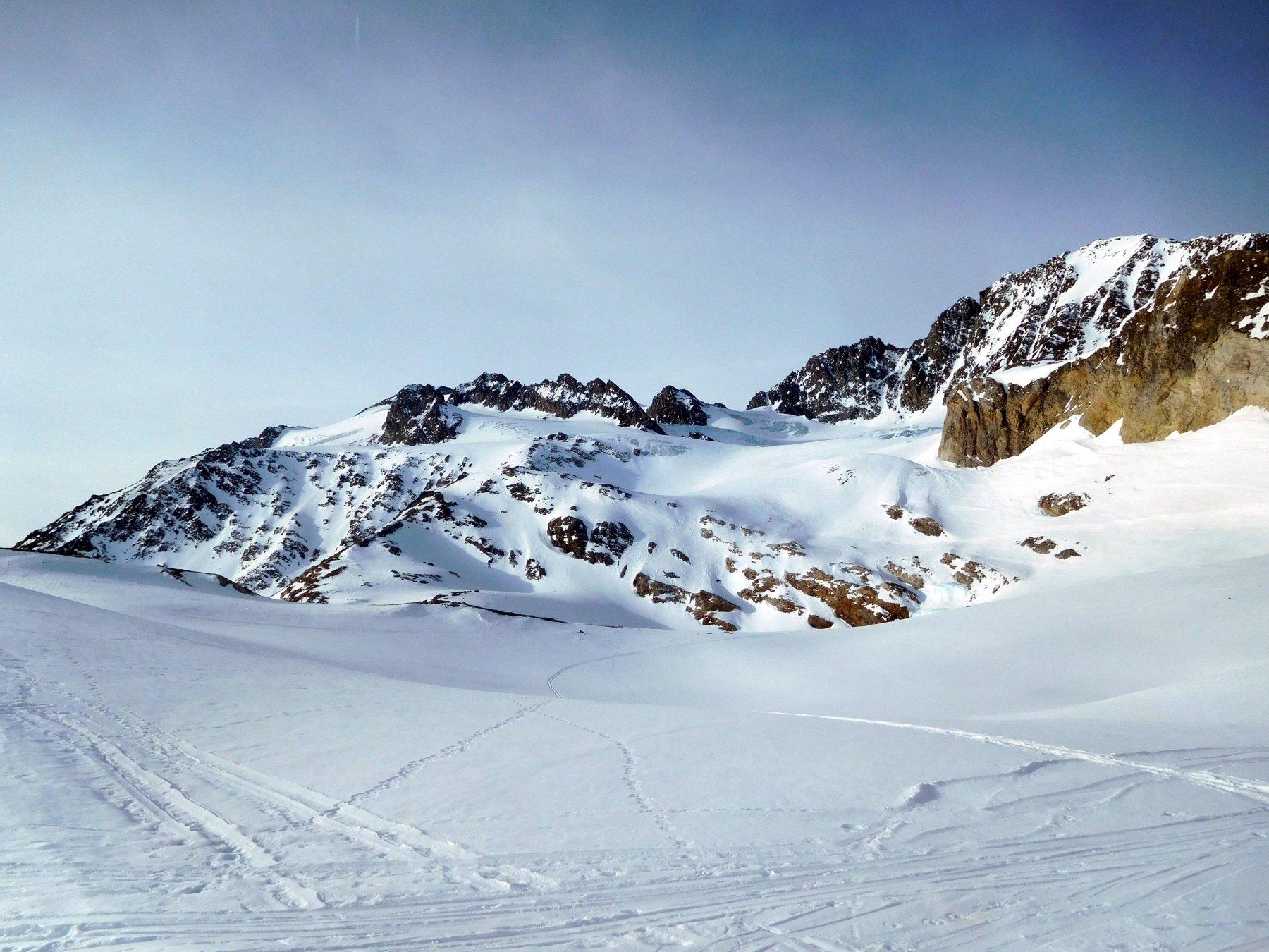 vista salendo dai ripiani glaciali