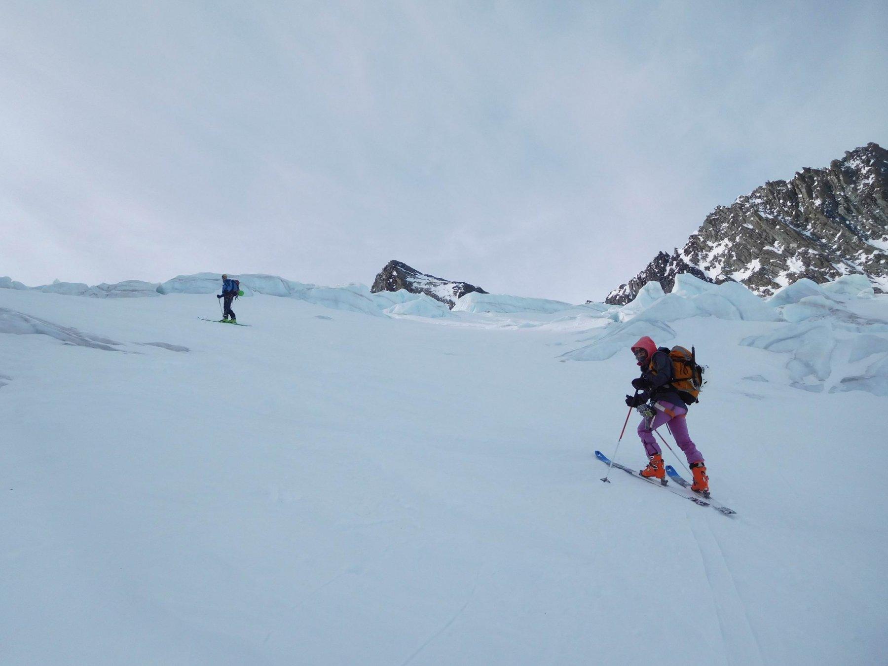 Sul ghiacciaio a 3200m