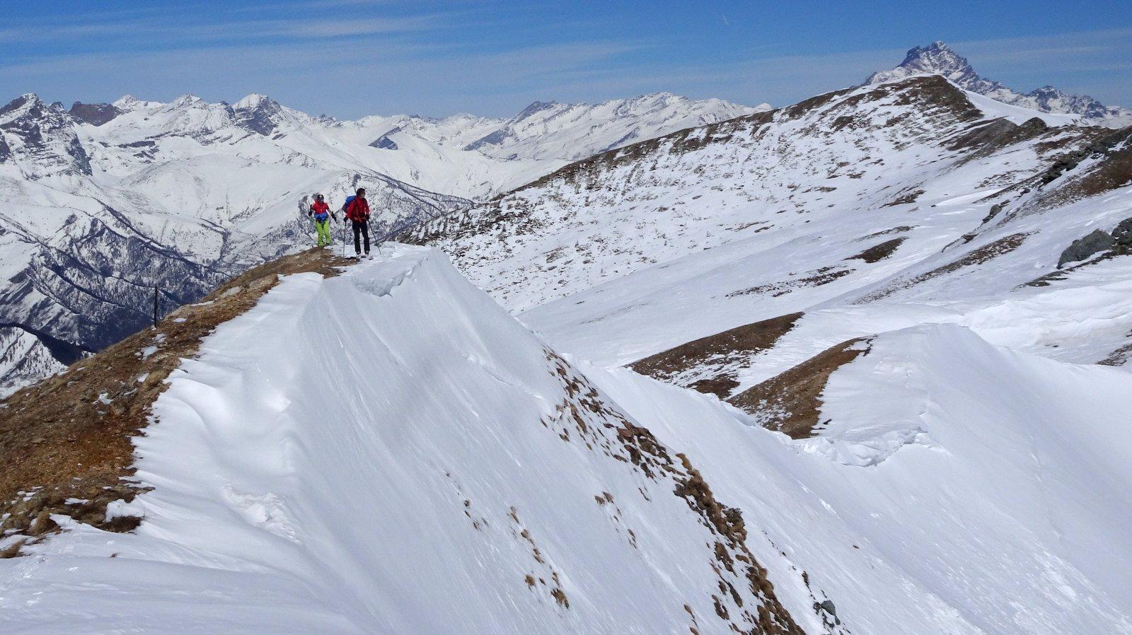 Sulla cresta a 2450 mt
