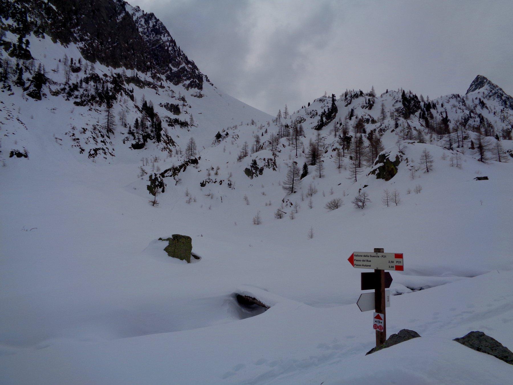 Canale per il Colle dell' Autaret senza tracce