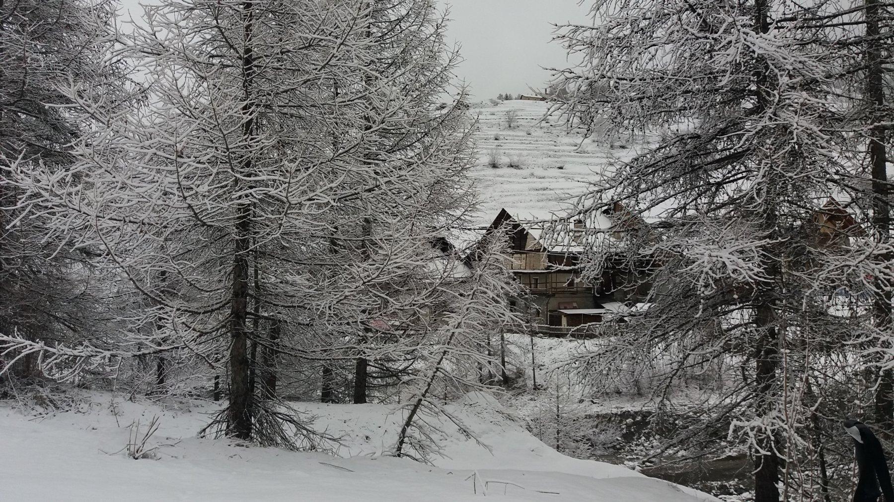 Poca neve alla partenza