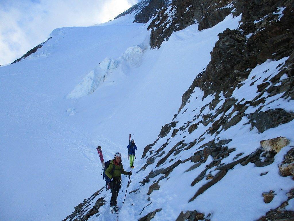 Uscita del breve tratto a piedi e ghiacciaio parte alta