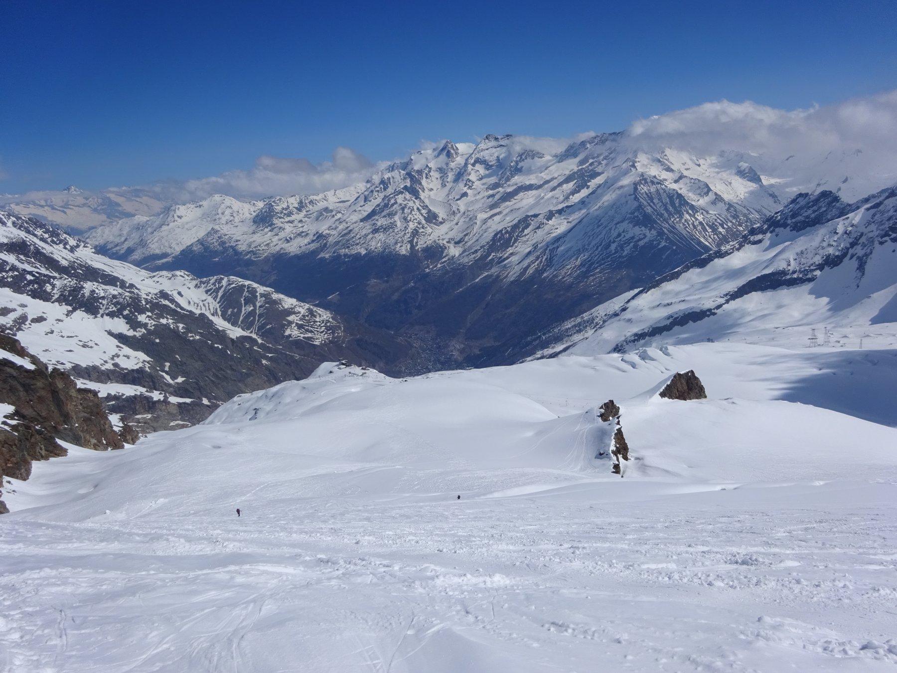 prima parte di salita percorsa dopo aver lasciato le piste da sci
