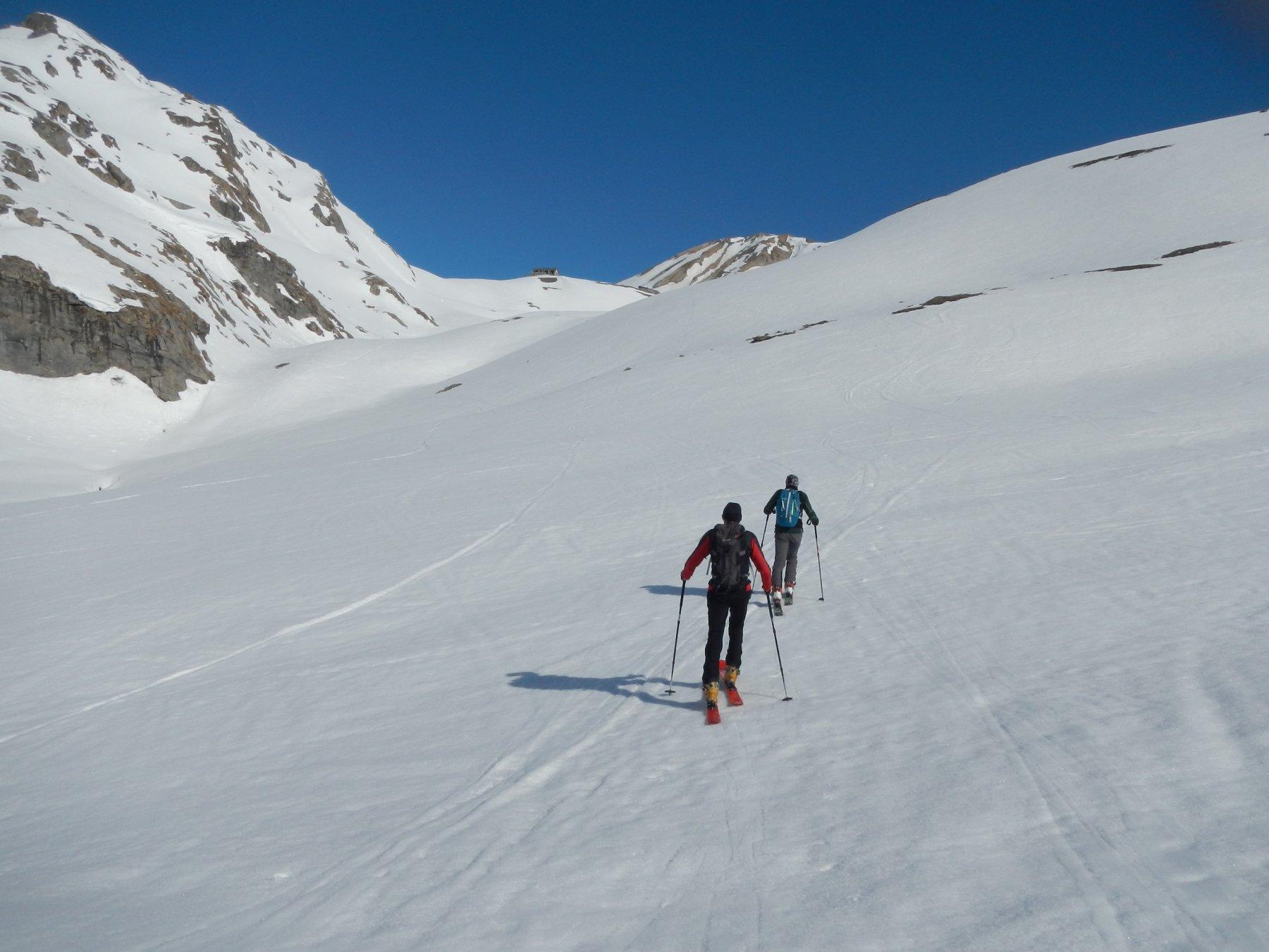 bel valloncello di salita verso il Col du Galibier