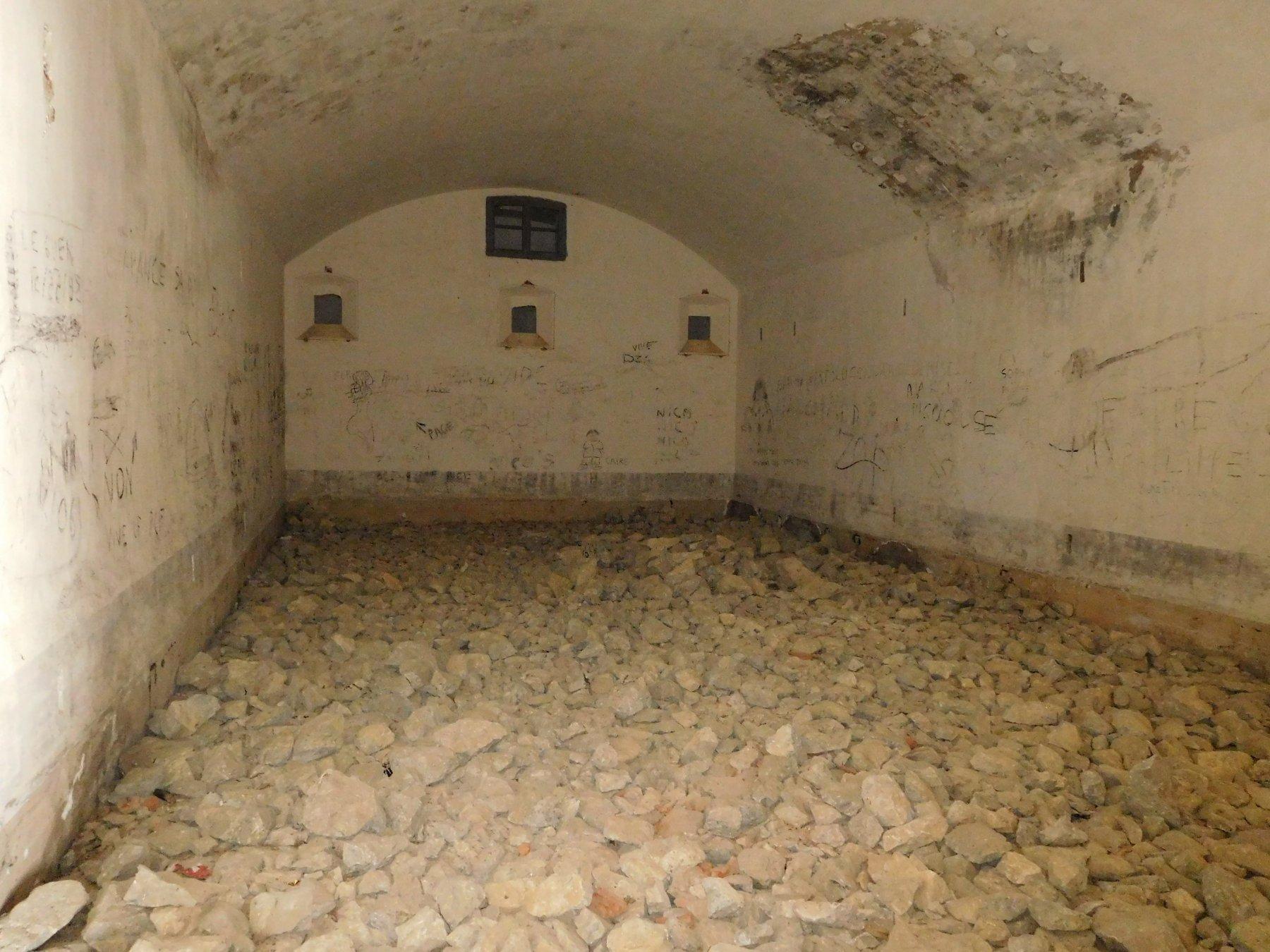 una sala del forte