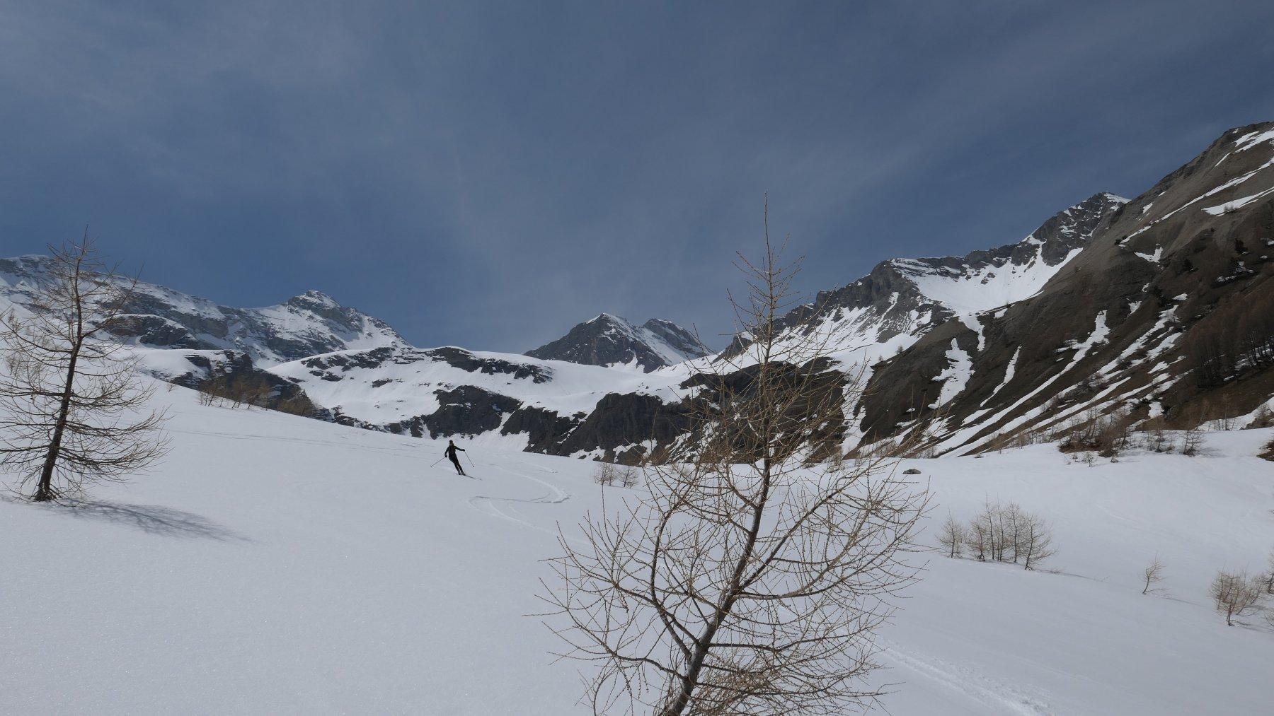 parte bassa su neve primaverile