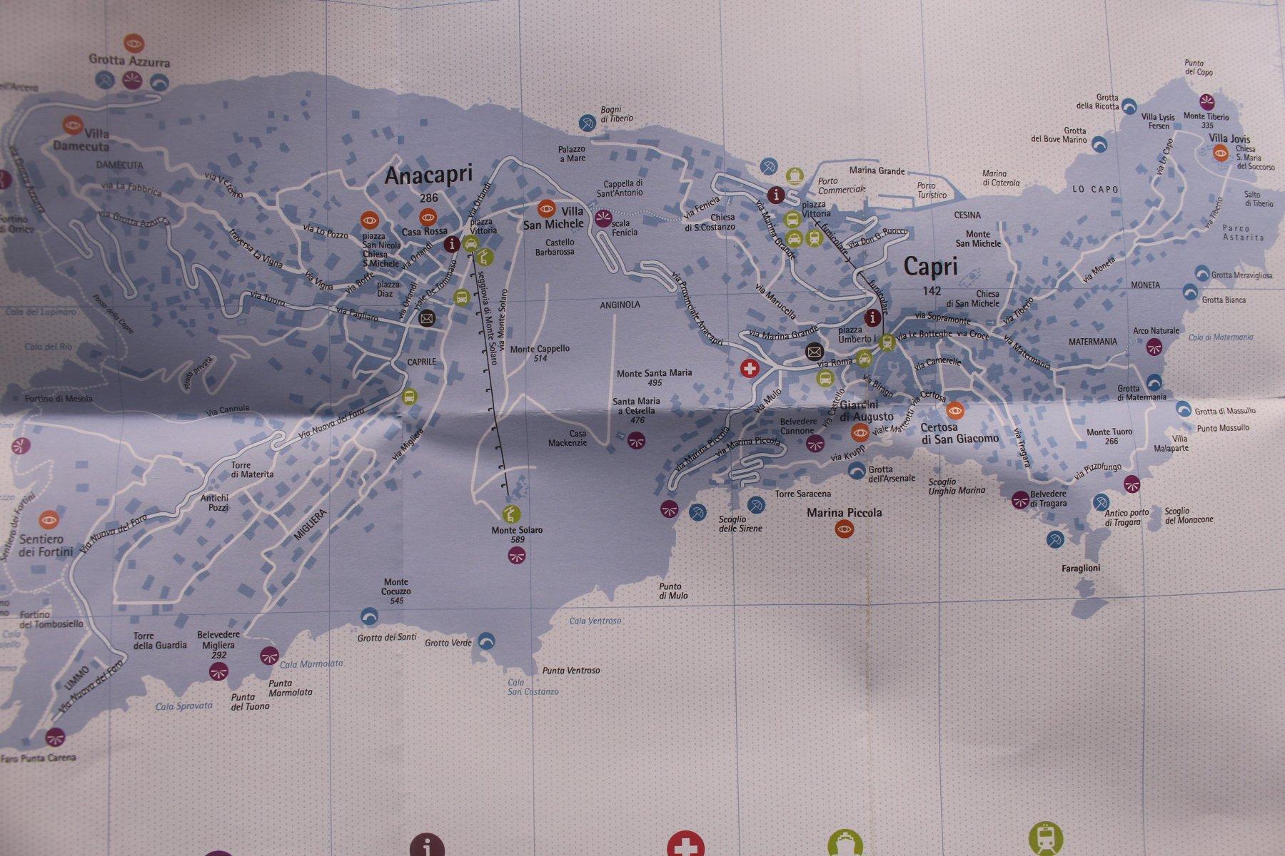 Cartina dell 'isola