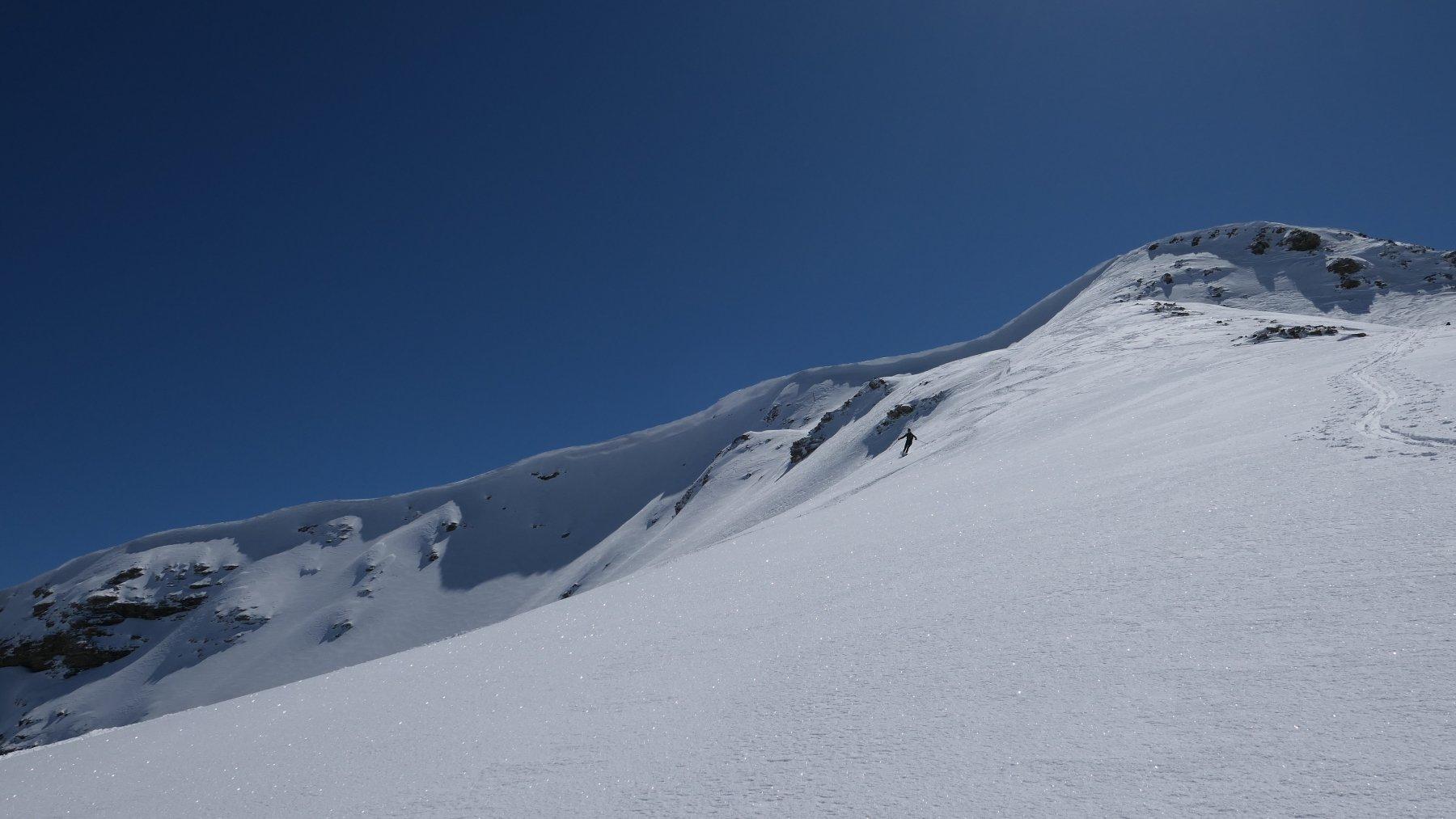 curve sotto la cima del Mourre-Haut
