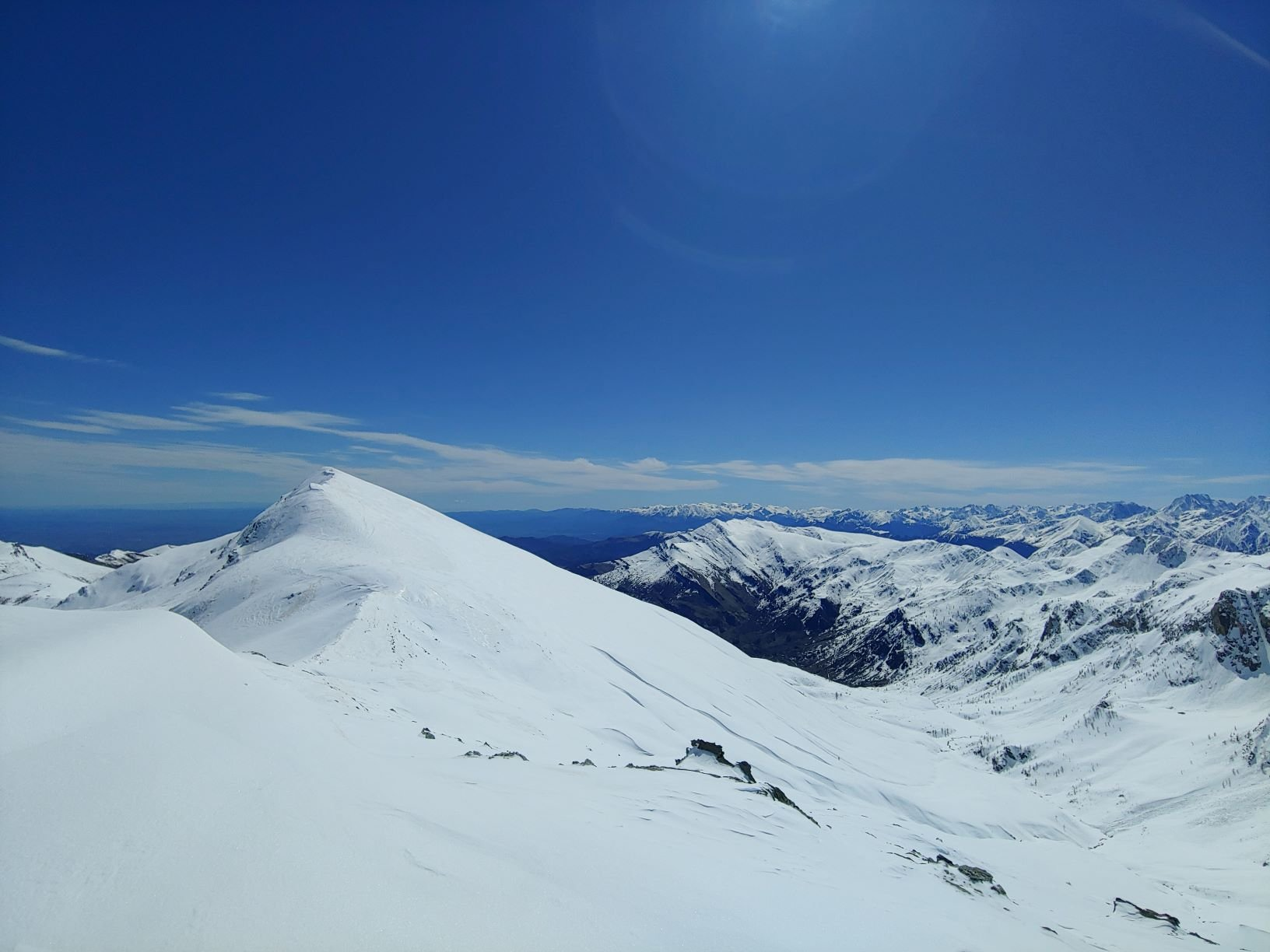 Il Monte Tibert davanti a noi