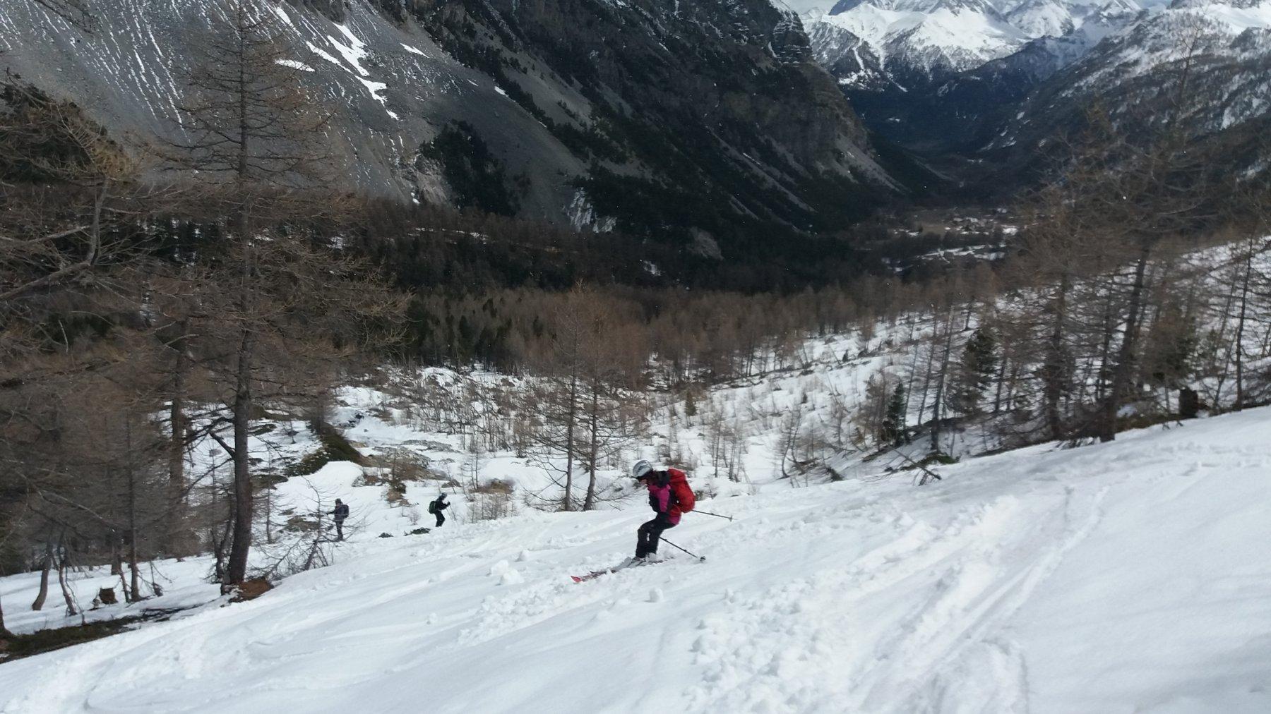 Ultime curve su neve un po' umida e pesante